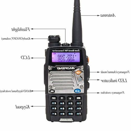 2x Baofeng UV-5XP Walkie Fire Radio Two Way Scanner Transceiver