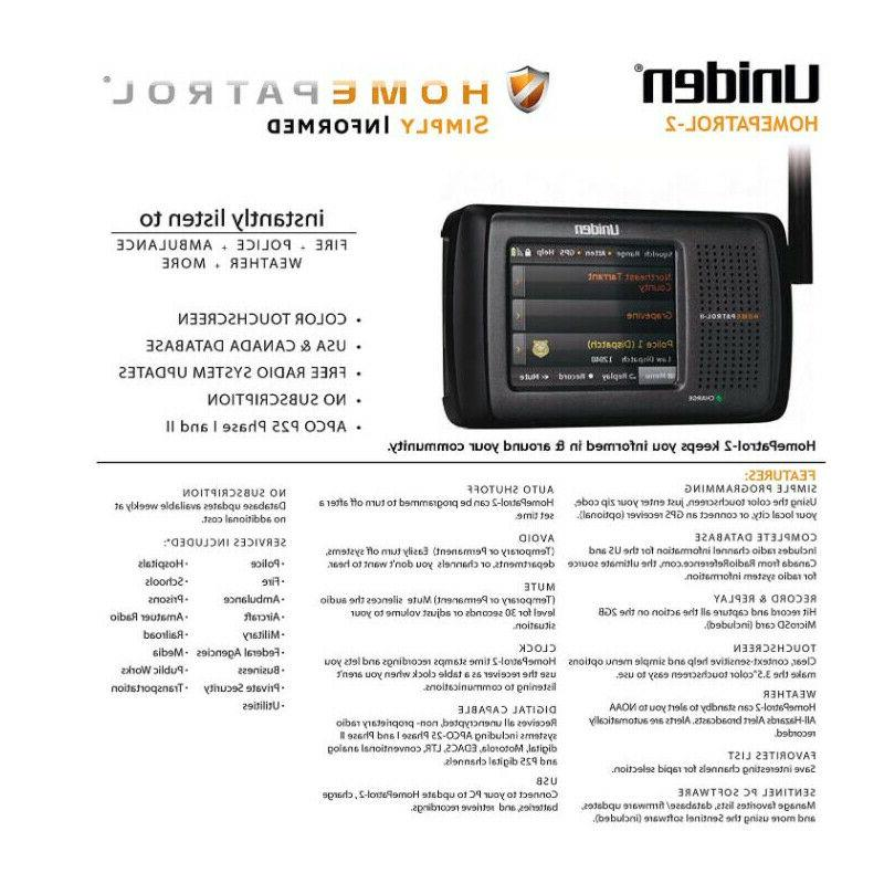 Uniden Touch Police Fire Weather 2